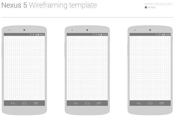 Nexus 5 Wireframing Template By Vivien Bocquelet