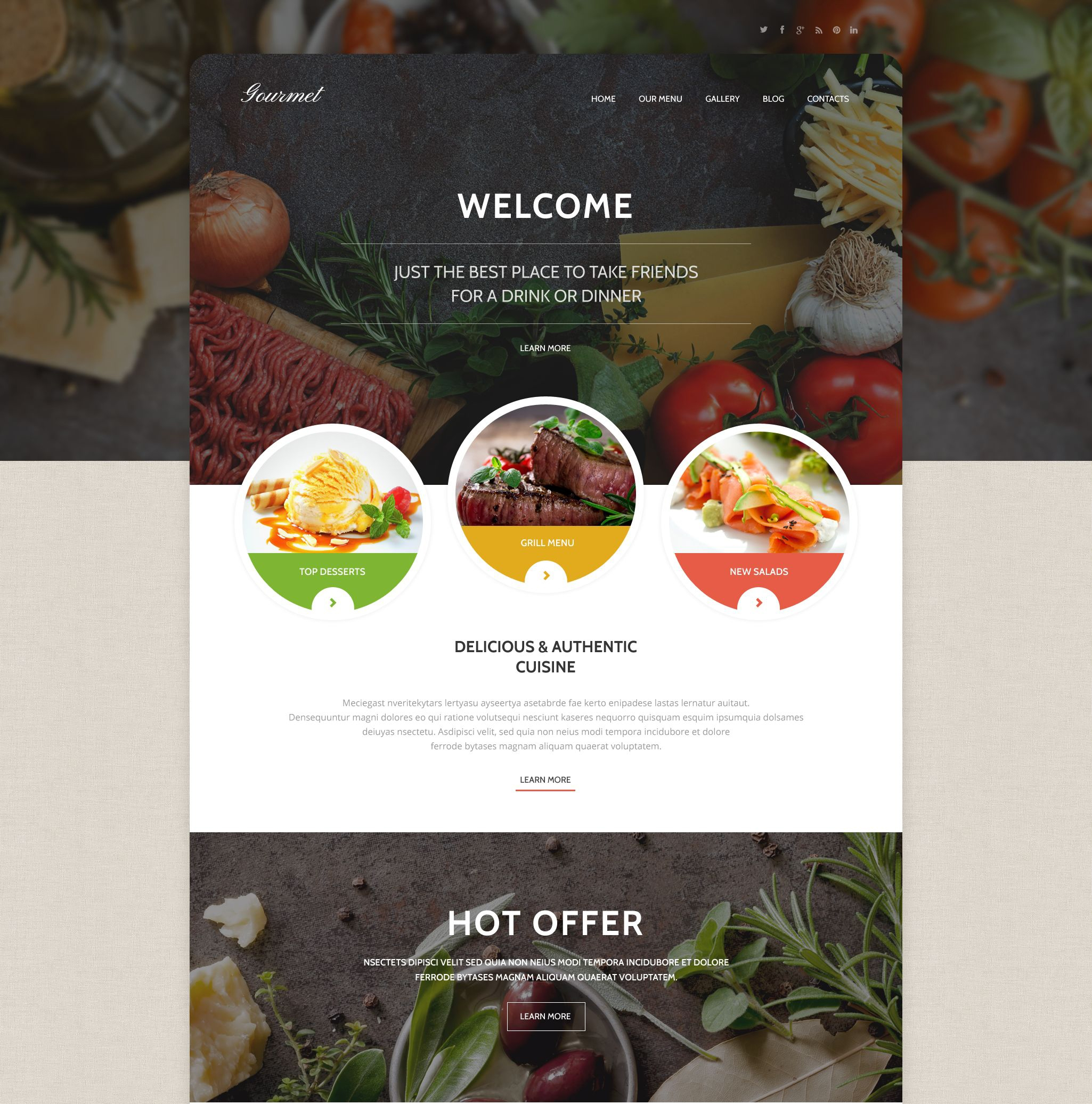 Gourmet Cousine WordPress Theme