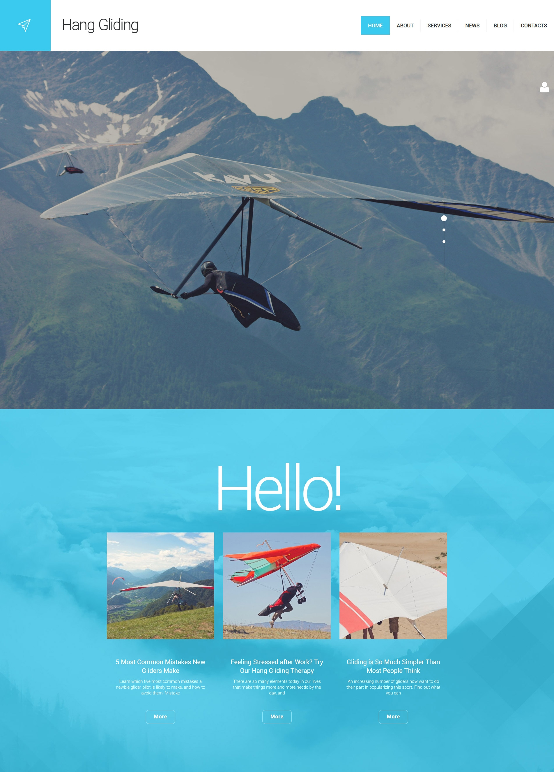 Hang Gliding WordPress Theme