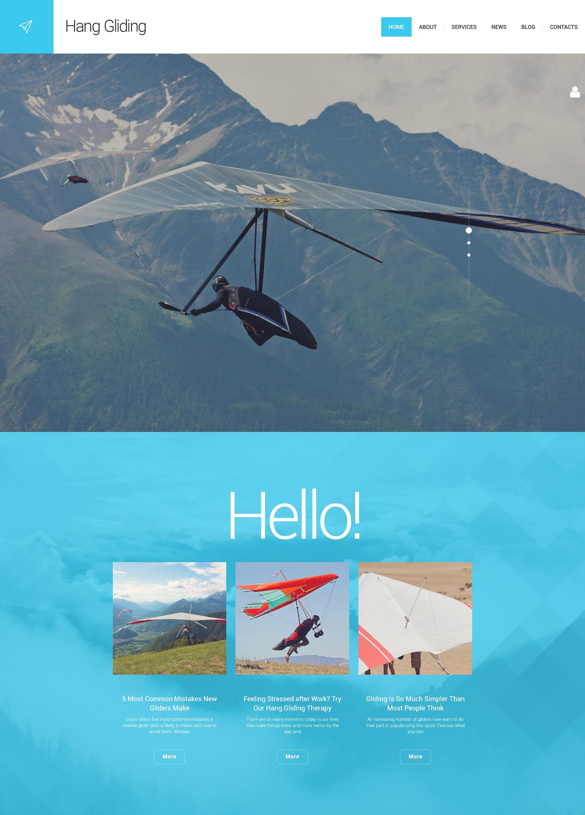 Hang Gliding WordPress Theme