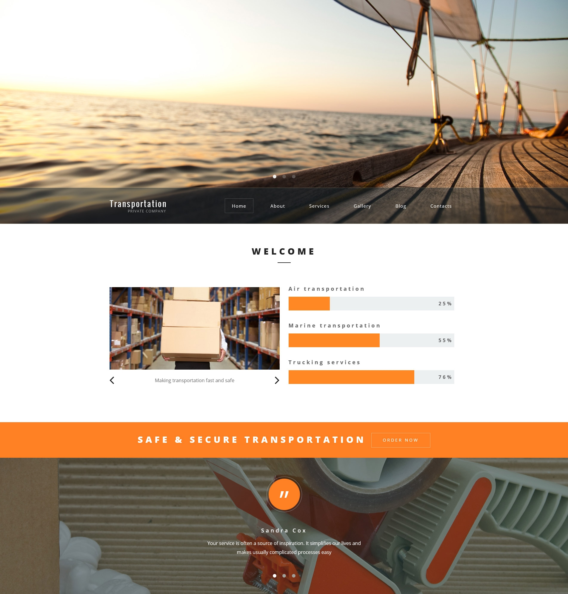 Transportation Private Company WordPress Theme