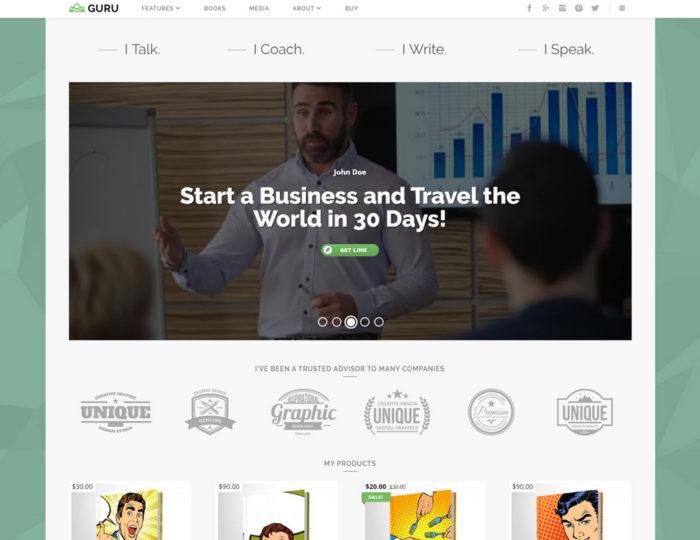WordPress Theme Online Business
