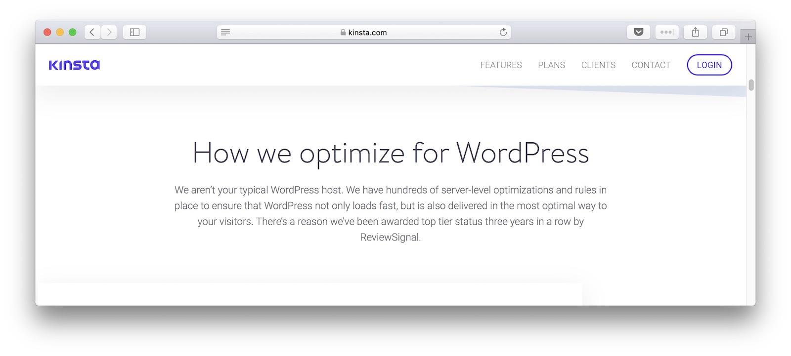 kinsta for WordPress
