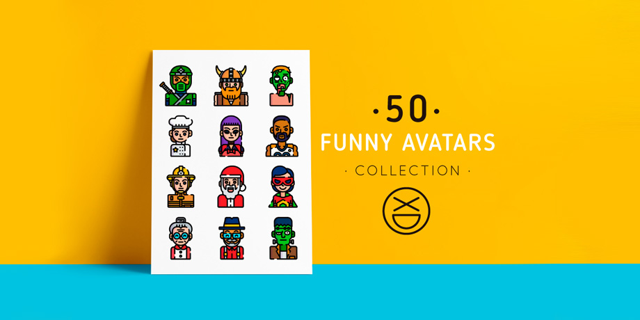 Freebie: Collection of 50 High Quality Funny Avatars
